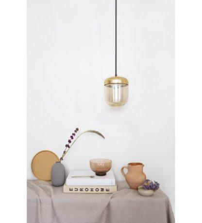 nowoczesna szklana lampa złota do salonu