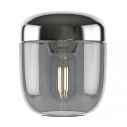 srebrna lampa wisząca do salonu