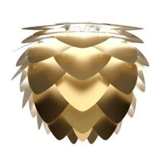Duża lampa wisząca Aluvia - szczotkowany mosiądz