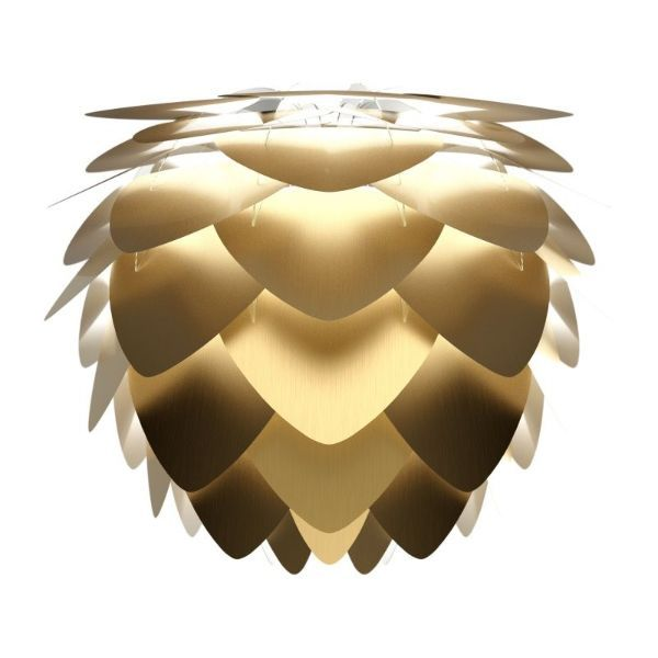 złota lampa wisząca do salonu