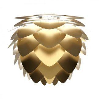 Złota lampa wisząca Aluvia Mini - szyszka