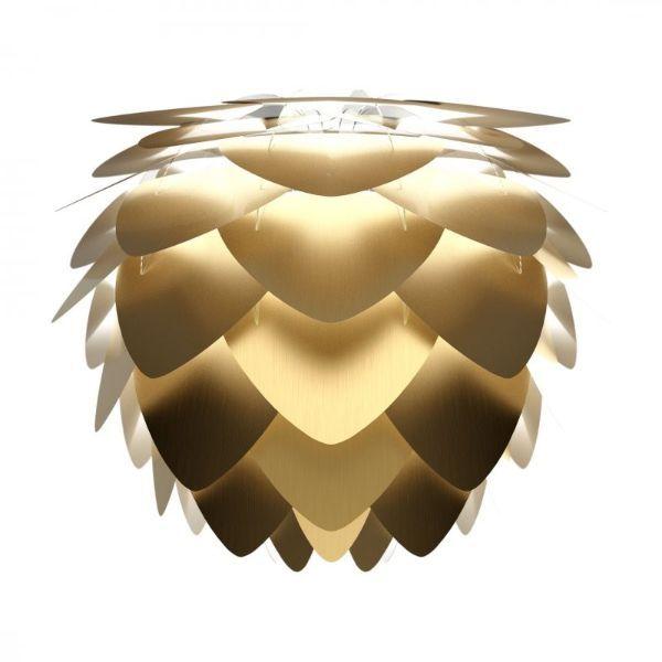 złota lampa wisząca do sypialni