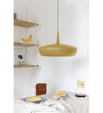 żółta lampa wisząca do kuchni skandynawska