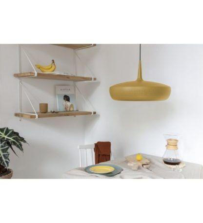 lampa wisząca do kuchni żółta aranżacja