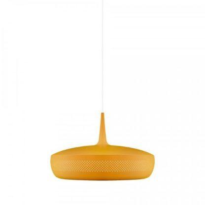 żółta lampa wisząca styl skandynawski