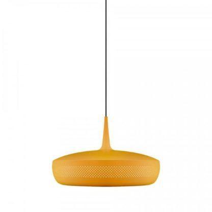 żółta lampa wisząca nad stół