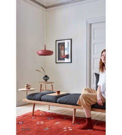 bordowa lampa wisząca do salonu