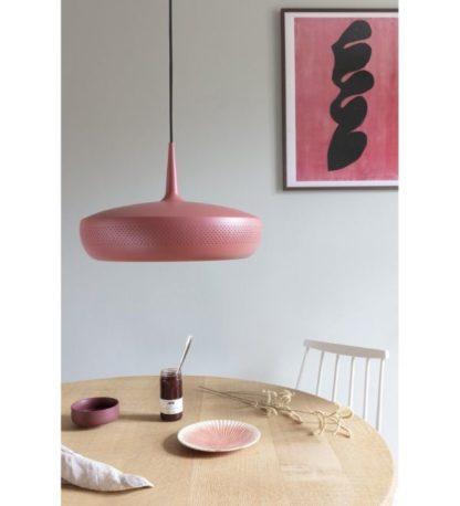 bordowa lampa wisząca do jadalni