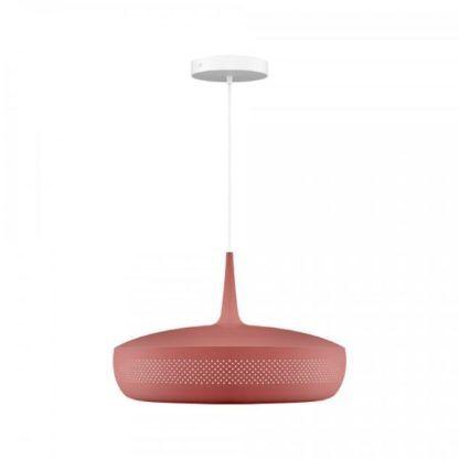 bordowa lampa wisząca skandynawska
