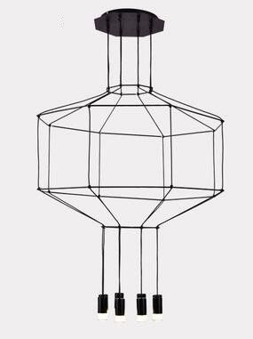lampa linea czarne kable