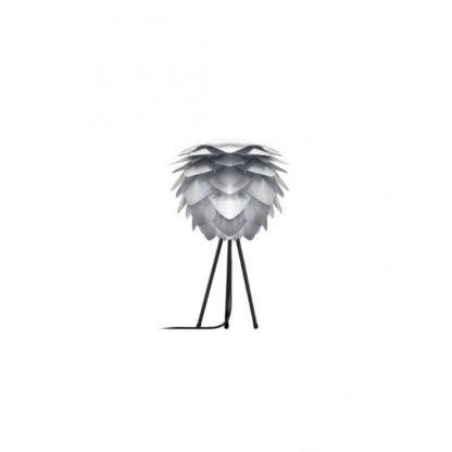 srebrna lampa stołowa tripod