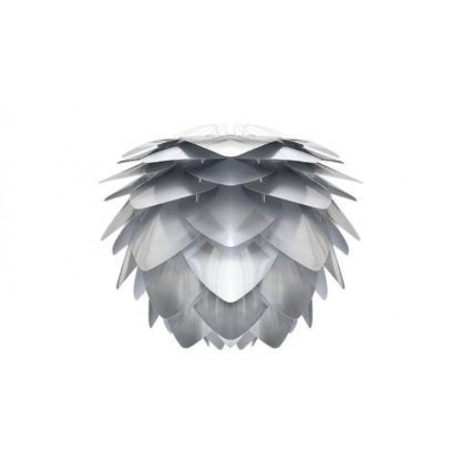 srebrna lampa wisząca klosz w kształcie szyszki