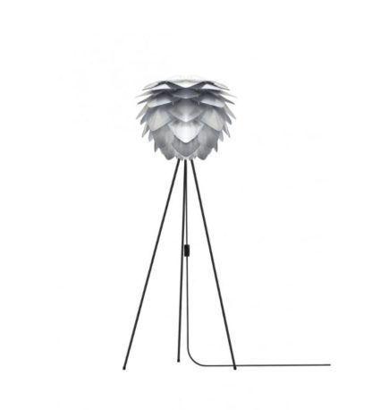 lampa podłogowa tripod szara szyszka