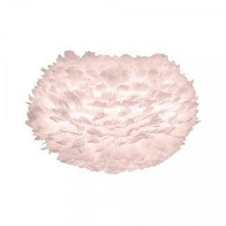 Lampa wisząca Eos Light - delikatny róż, klosz z piór