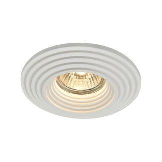Okrągłe oczko sufitowe Modern - białe, gipsowe