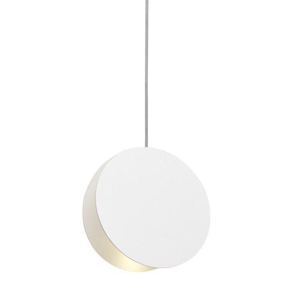 minimalistyczna biała lampa wisząca