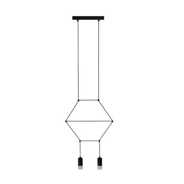 lampa wisząca z ozdobnymi kablami