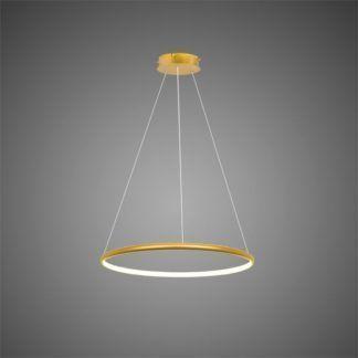 Nowoczesna lampa wisząca Shape - złota, LED, 4000K