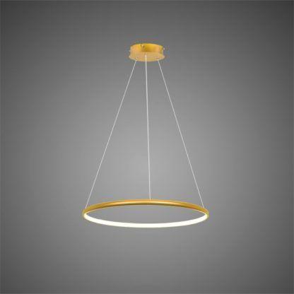 złoty ring led lampa wisząca