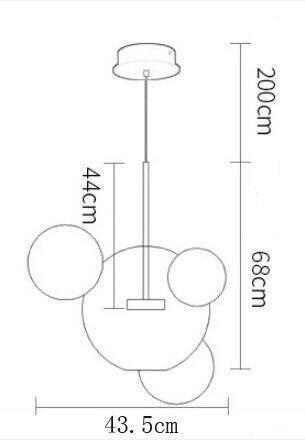 Lampa Bubbles - stylowa wisząca LED z 4 kulami z transparentnego szkła