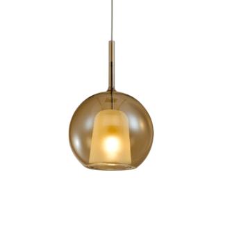 Kulista lampa wisząca Euforia No. 1 bursztynowa 16cm