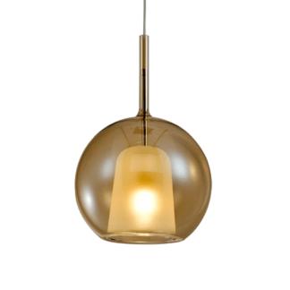 Lampa wisząca szklana Euforia No. 1 bursztynowa 25cm