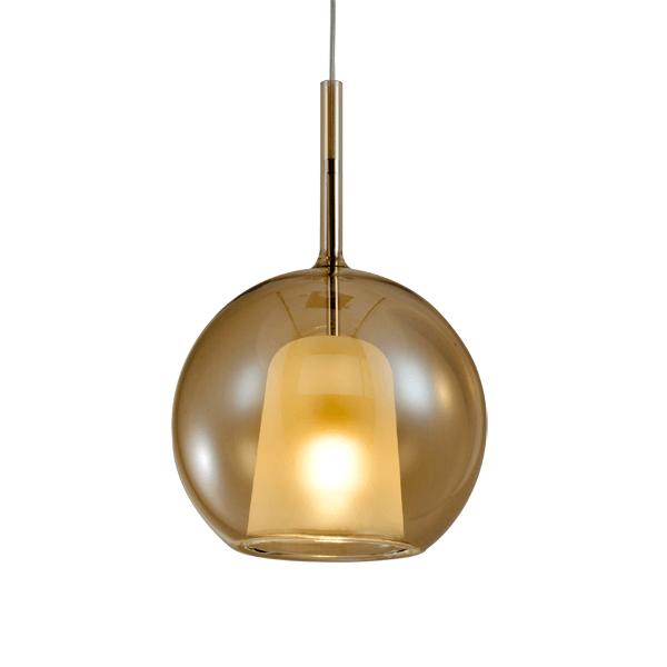 bursztynowa lampa kula wisząca