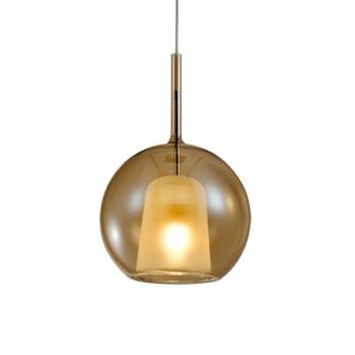 Lampa wisząca szklana Euforia No. 1 bursztynowa 20cm