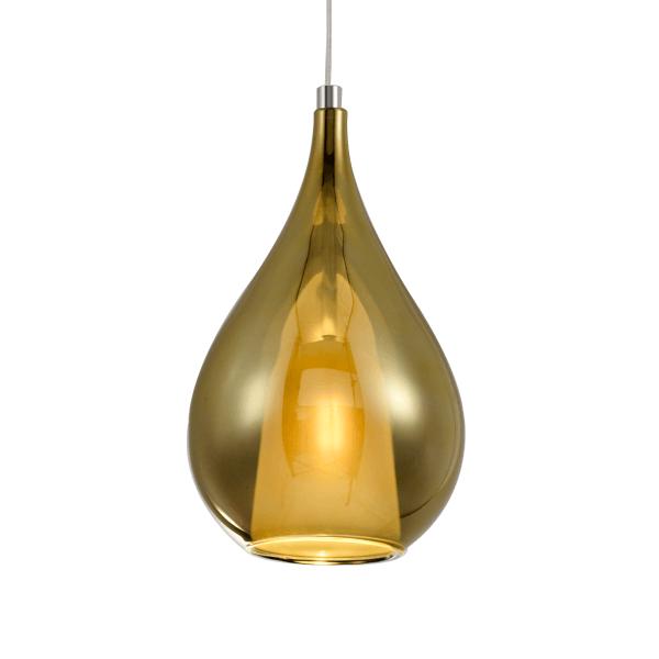 lampa wisząca złota szklana