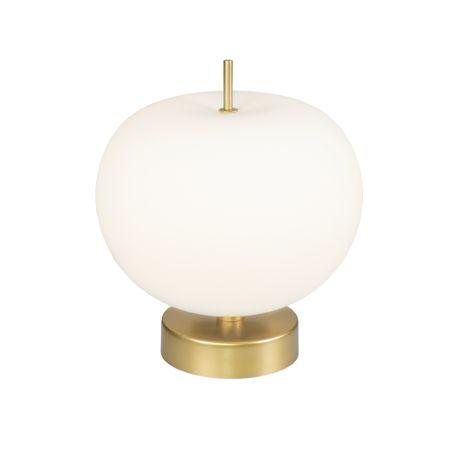 designerska szklana lampa stołowa