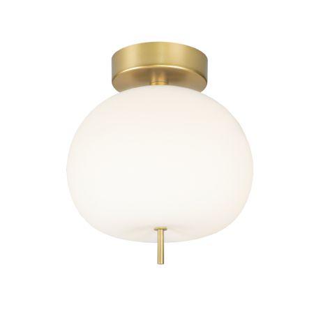 lampa sufitowa matowe szkło złota