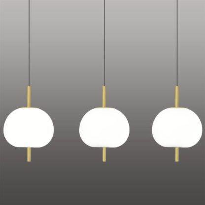 nowoczesna lampa wisząca owalne klosze