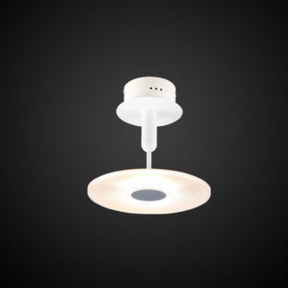 nowoczesna lampa sufitowa led biała