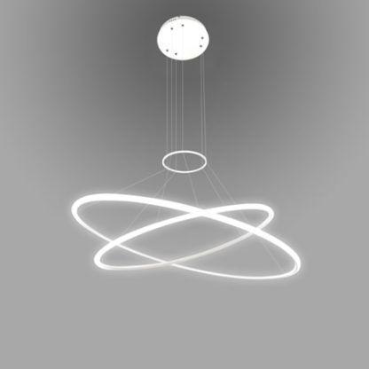 ledowa lampa wisząca regulowane ringi