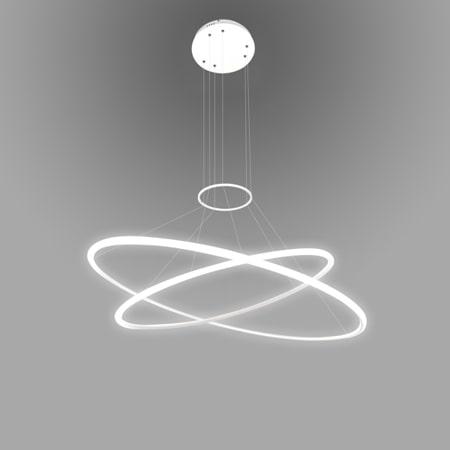 biała lampa wisząca led ringi