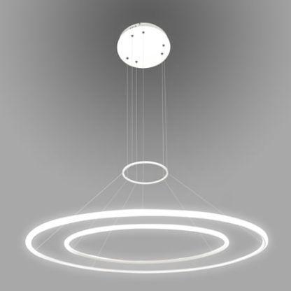 biała lampa wisząca okręgi led