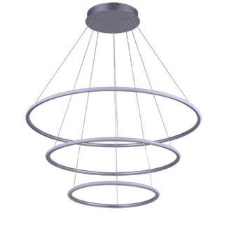 Potrójna lampa wisząca Shape - ledowe ringi, 3000K