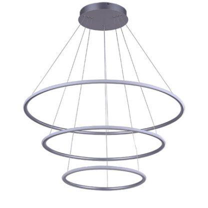 lampa wisząca z ledowymi panelami