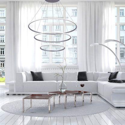 nowoczesna lampa wisząca okręgi led salon