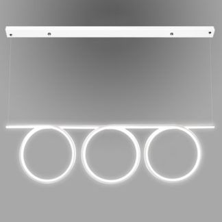 Ledowa lampa wisząca Shape - biała oprawa