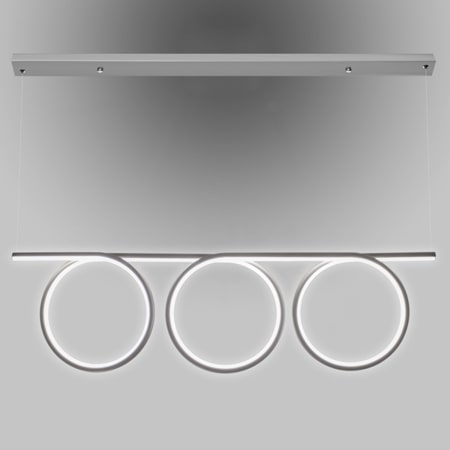 szara lampa wisząca z panelem led