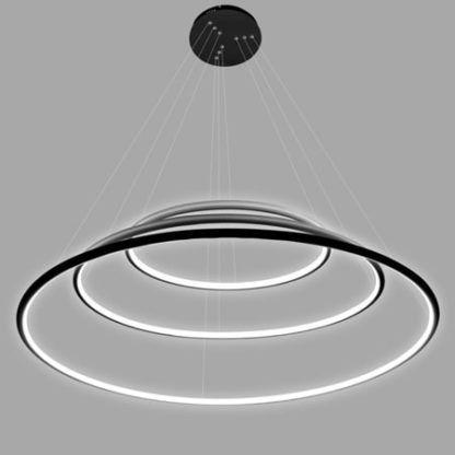 lampa wisząca czarne ringi
