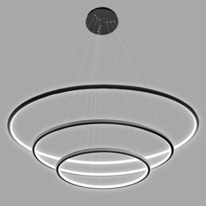 lampa wisząca czarne okręgi