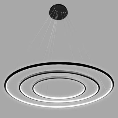 lampa wisząca ringi led czarna