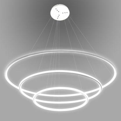 lampa wisząca białe ringi led