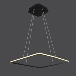 Czarna lampa wisząca Shape - LED, kwadrat