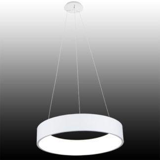 Biała lampa wisząca Vogue - LED, zmiana barwy światła