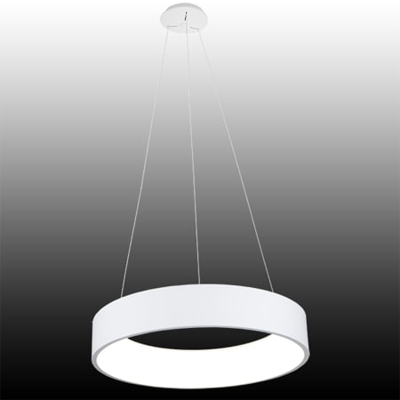 biała lampa wisząca led