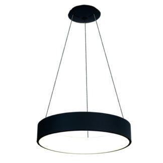 Czarna lampa wisząca Vogue - ledowy okrąg