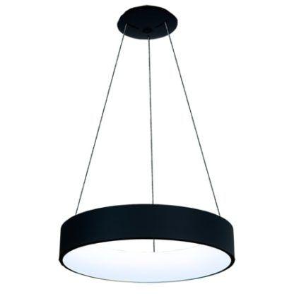 czarna lampa wisząca led